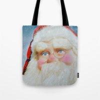 santa Tote Bags featuring Santa by Mary Timman