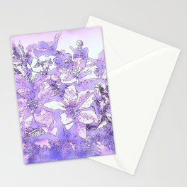 Christmas Bouquet in a purple haze Stationery Cards