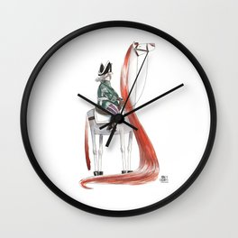 Numero 9 -Cosi che cavalcano Cose - Things that ride Things- SERIE ARGENTO - SILVER SERIES Wall Clock