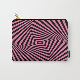 Op-Art Spiral - Pink Carry-All Pouch