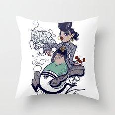 Chola Mermaid Throw Pillow