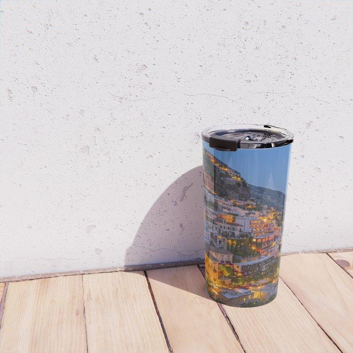 A Serene View of Amalfi Coast in Italy Travel Mug