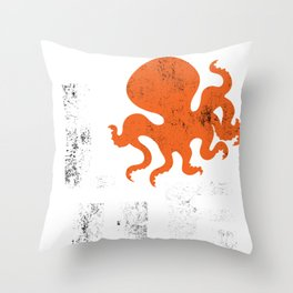 Octopus Love Squids Octopod Polyp Cuttlefish Gift  Throw Pillow