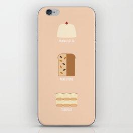 Italian Desserts iPhone Skin