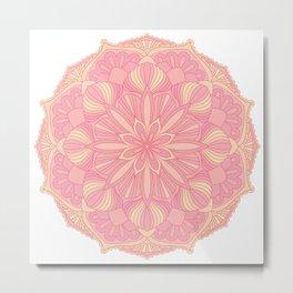 Colorful mandala symbol. Ethnic design element. Metal Print