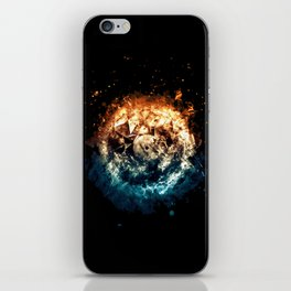 Burning Circle - Fire and Ice - Isolated iPhone Skin