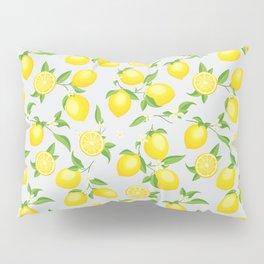 You're the Zest - Lemons on White Pillow Sham