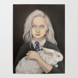 Luna Lovegood and rabbit patronus Poster