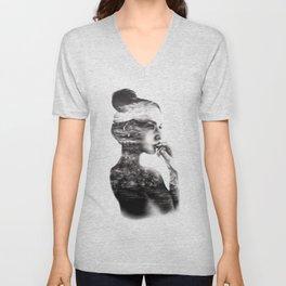 Vagabond // Fashion Illustration Unisex V-Neck