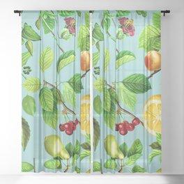 Floral Garden Design Patterns Sheer Curtain