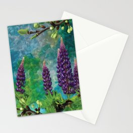 For The Love Of Lupines by annmariescreations Stationery Cards