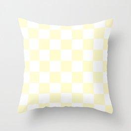 Checker (Cream/White) Throw Pillow