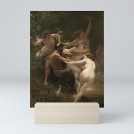 William-Adolphe Bouguereau's Nymphs and Satyr Mini Art Print
