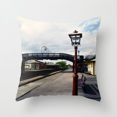 Waiting For A Train Throw Pillow