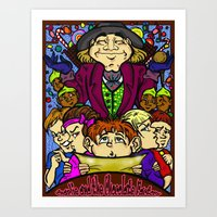 willy wonka Art Prints featuring Willy Wonka by Carol Wellart