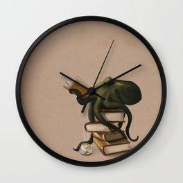 Well-Read Octopus Wall Clock