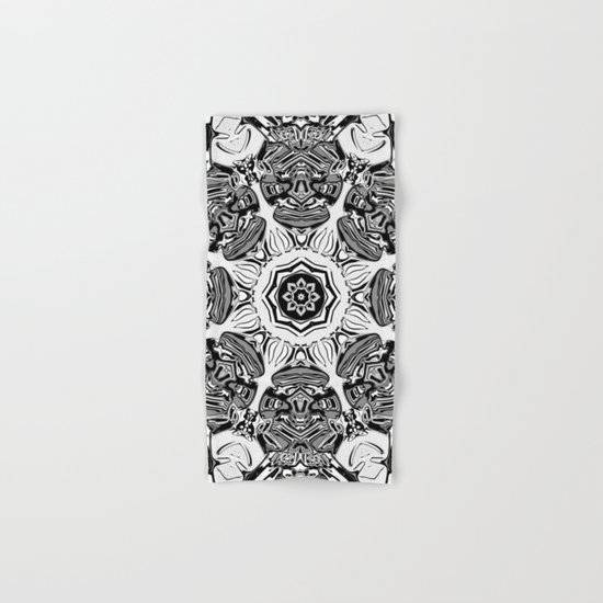 Black And White Abstract Hand Bath Towel By Phil Perkins Society6