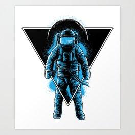 Space Astronaut Galaxy surfer Art Print