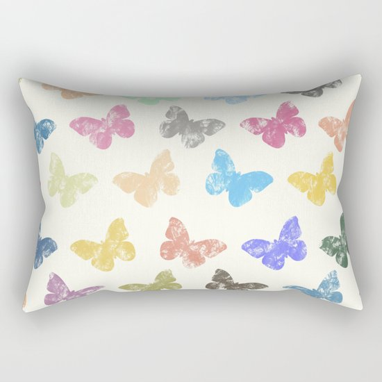 Colorful butterflies Rectangular Pillow