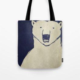 Polar Bear - Stars Up Above Tote Bag