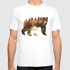 in the forest White MEDIUM Mens Fitted Tee