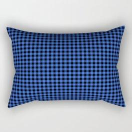 Mini Black and Royal Blue Cowboy Buffalo Check Rectangular Pillow