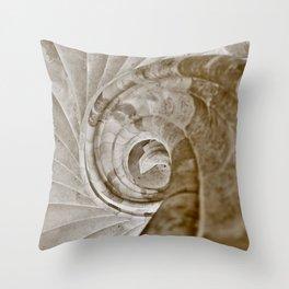 Sand stone spiral staircase 13 Throw Pillow