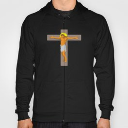 jesus christ on cross retro Hoody