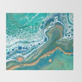 Acrylic Coastal Pour Throw Blanket