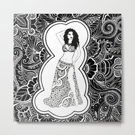 Henna Dancer  Metal Print