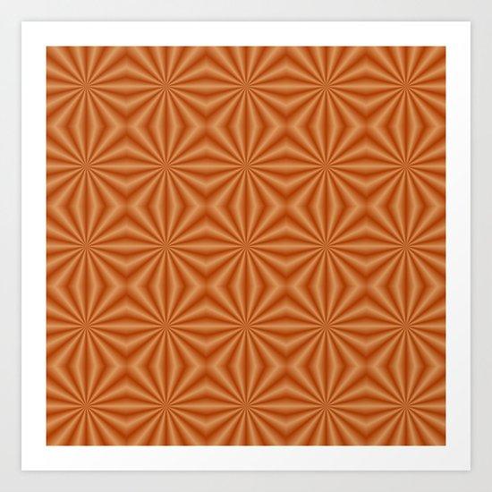 Orange Quilted Pattern Art Print