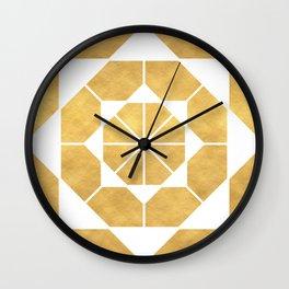 CIRCLES AND SQUARES sacred geometry Wall Clock