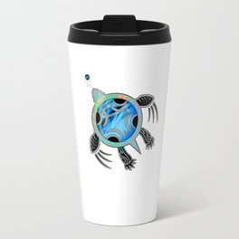Painted Sea Turtle Travel Mug