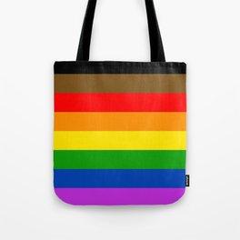 LGBTQ Pride Flag (More Colors More Pride) Tote Bag