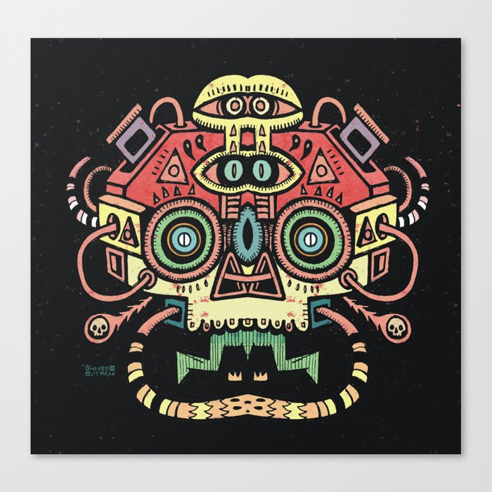Lanceur de rêves - Alien tribe Canvas Print