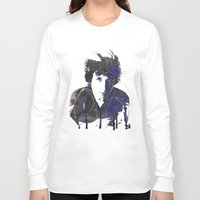 dylan Long Sleeve T-shirts featuring bob dylan by manish mansinh