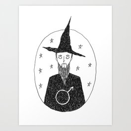 Male Witch Art Print