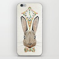 rabbit iPhone & iPod Skins featuring rabbit by Manoou