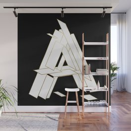 Beautiful Armor Letter A Wall Mural