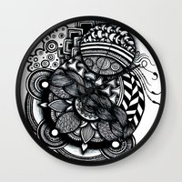 zentangle Wall Clocks featuring zentangle by goyye