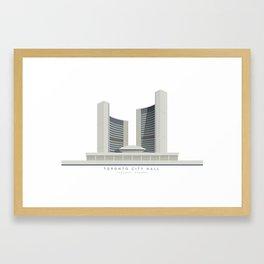 Toronto City Hall | Icon-O-Tecture Framed Art Print