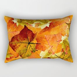 Fallen Autumn Leaves Rectangular Pillow
