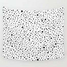 Polka Dots | Black and white pattern Wall Tapestry