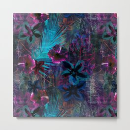 Haleiwa Tropical Purple Metal Print
