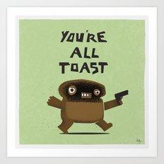 Toast Revenge Art Print