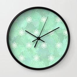 Luna Moth Pattern Two Wall Clock