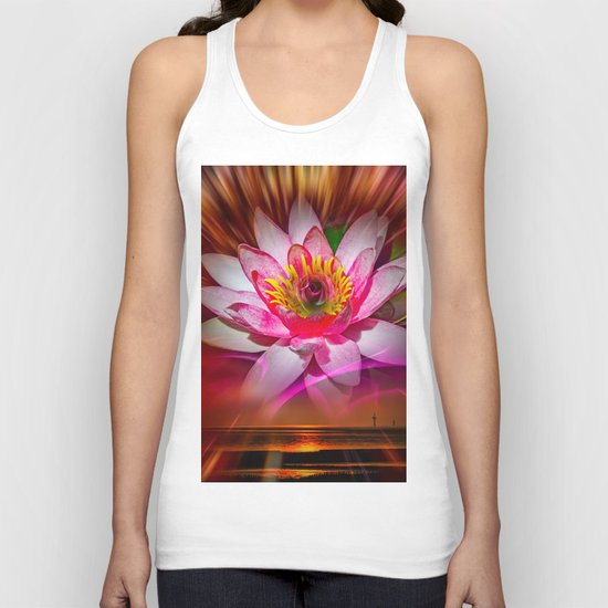 Wellness Water Lily Rose  6 Unisex Tank Top