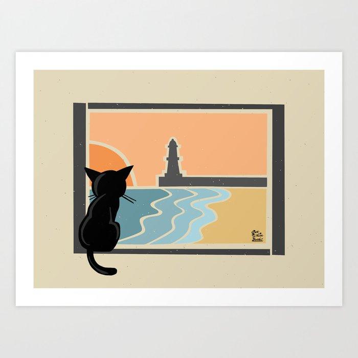 See the sea Art Print