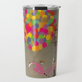 Love to Ride my Bike with Balloons even if it's not practical. Travel Mug