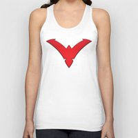 nightwing Tank Tops featuring Nightwing Red by Julian Rhys